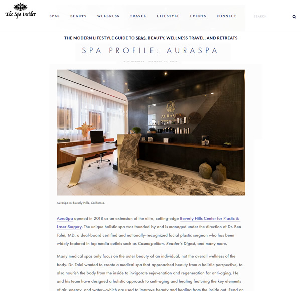 "Article ""Spa Profile: AuraSpa"" on thespainsider.com"
