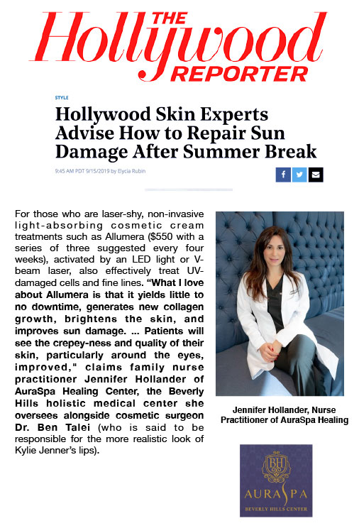 Screenshot of article: Hollywood Skin Experts Advise How to Repair Sun Damage After Summer Break