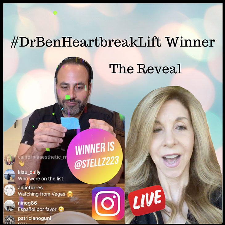 Screenshot of: #DrBenHeartbreakLift Winner The Reveal