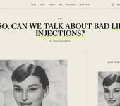 screenshot of the 'So, Can We Talk About Bad Lip Injections?' article