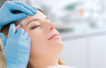 A woman receiving facial Botox injections in Beverly Hills CA.