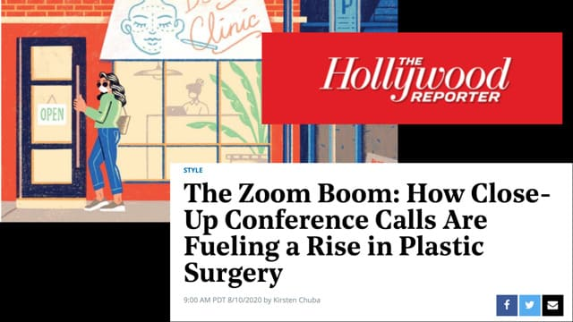 Screenshot of article: The Zoom Boom: How Close-Up Conference Calls Are Fueling a Rise in Plastic Surgery