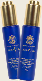 two aurasilk bottles